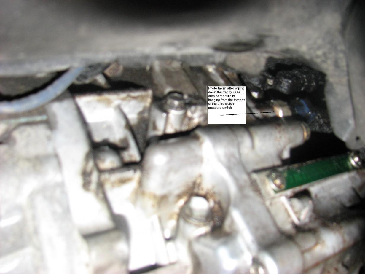 2008 EXL Transmission Fluid Leak 08 Ody Exl Tranny Leak