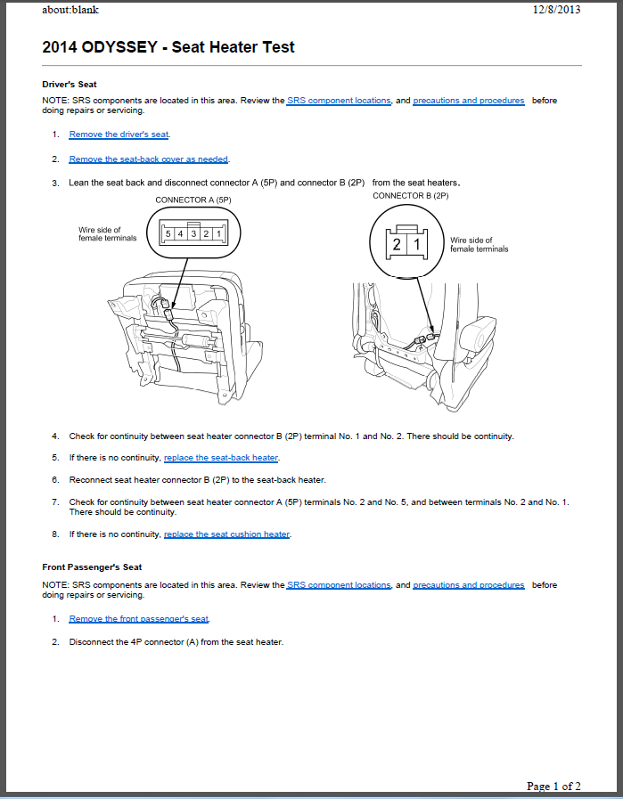 34154 seat heater problem 2014 odyssey seat heater test page1 seat heater problem honda odyssey wiring diagram 2011 at fashall.co