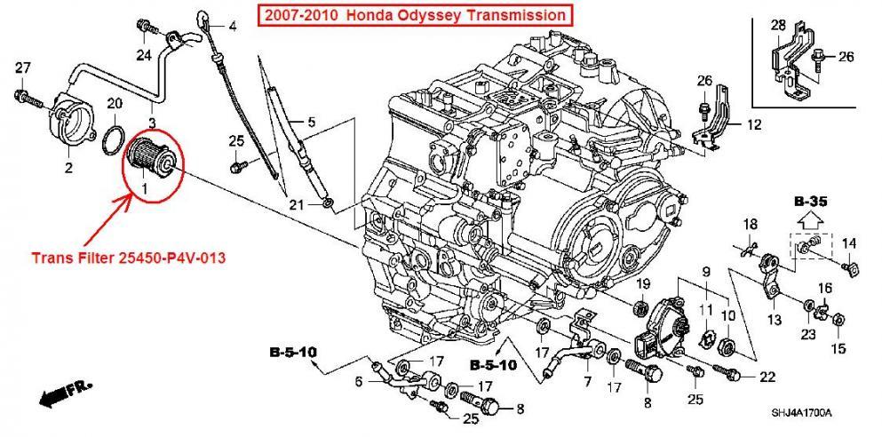 96 honda accord fuel filter location