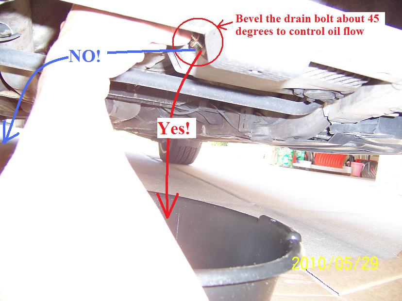 Transmission fluid drain & fill from & to dip-stick hole | Honda