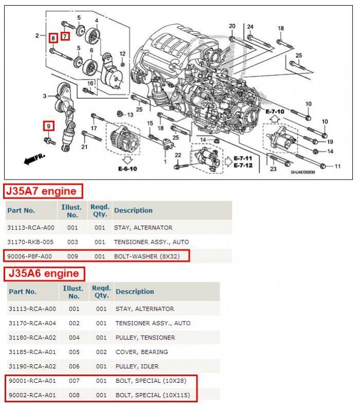 2008 Honda Odyssey Serpentine Belt Diagram