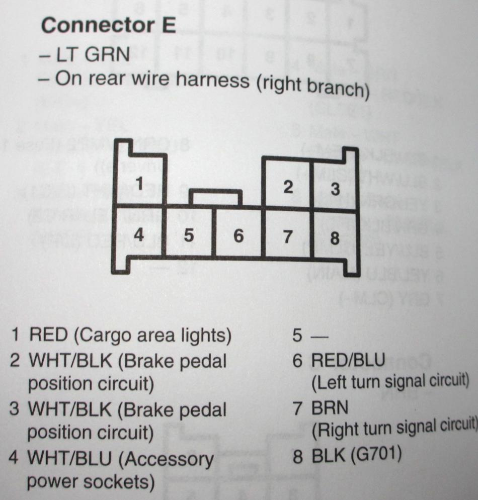 Modifying The Rear Power Outlet To Always On Or Key Controlled Acc Wiring Diagram How Wire A Switched Half Hot Connector E