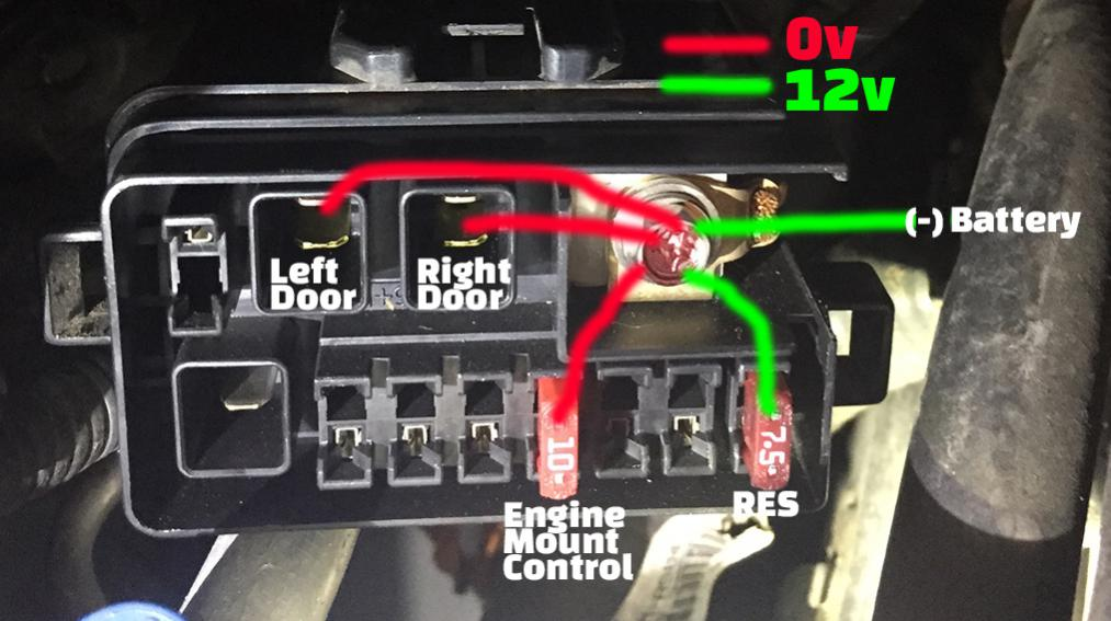 54090d1414789570 res screen both power doors failing same time intermittently continuity 1 res screen and both power doors failing at same time (intermittently) 2005 honda odyssey sliding door wiring diagram at nearapp.co