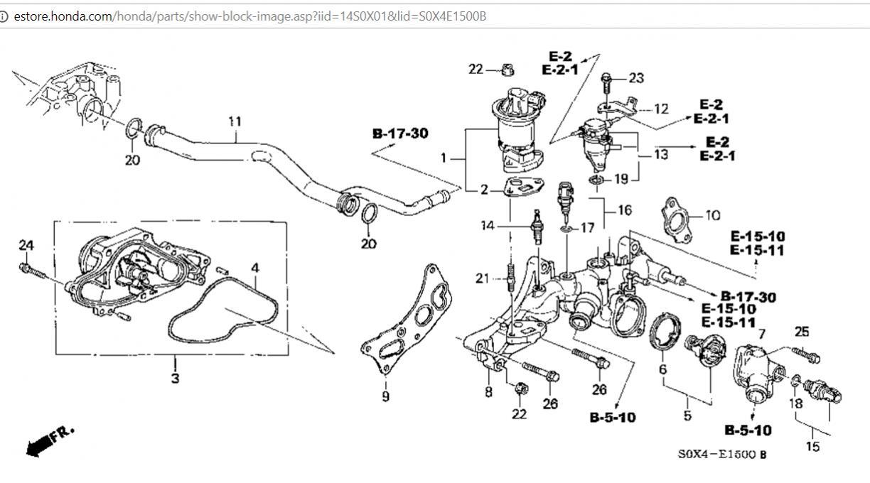 2003 Honda Odyssey Engine Parts Diagram