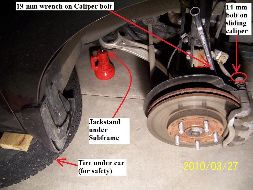 Diy 2007 Honda Odyssey Front Brake Rotor