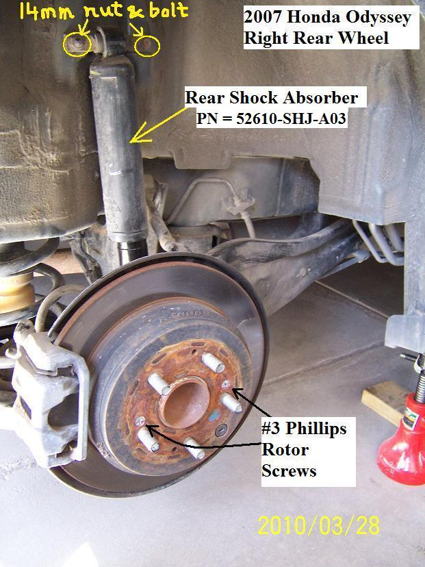 D Diy Honda Odyssey Front Brake Rotor Honda Ody Rearbrake