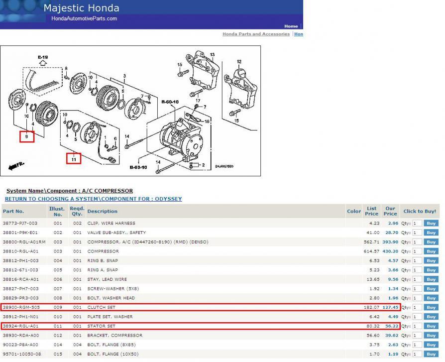 Majestic Honda Parts >> 05 Compressor Clutch Troubleshooting Page 5 Honda