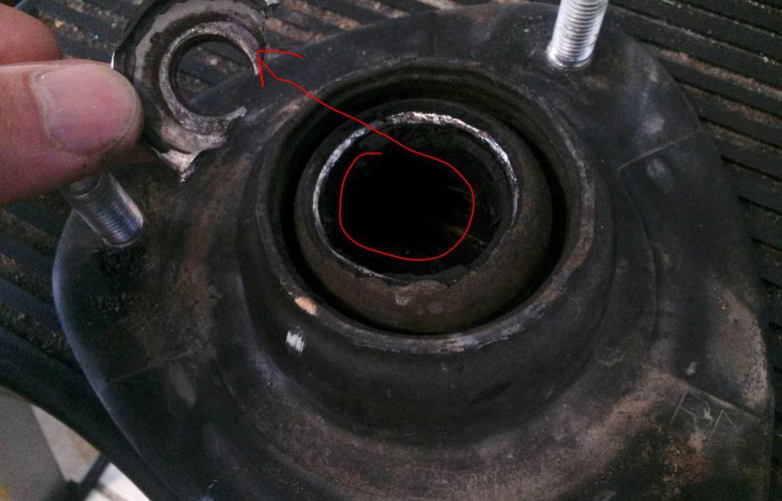 Broken strut mount how to remove spring assembly dangerous hondastrutmount
