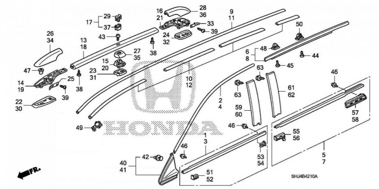 09 Odyssey Roof Molding Replacement 2005 Honda Engine Diagram Img 1951 1491770556634