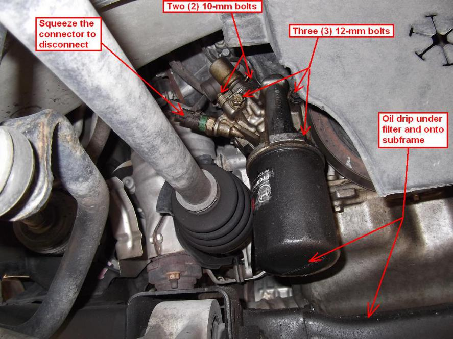 Diy 2007 Honda Odyssey Lx Oil Filter Housing Ofh Gaskets: 2002 Honda Accord Oil Filter Location At Bitobe.net