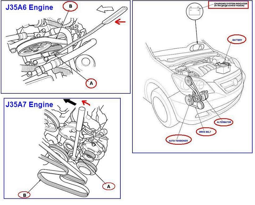 2008 Honda Odyssey Belt Diagram