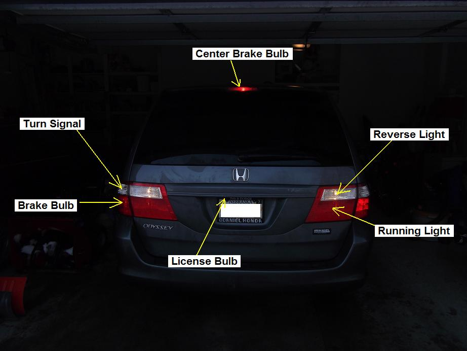 Brake light and tail light are controlled by same bulb!