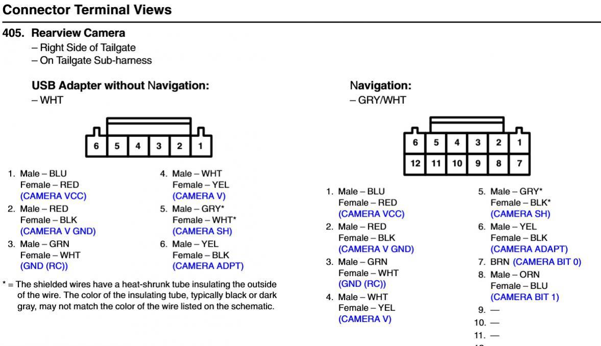 Backup camera dead, 2012 EX-L, pinout diagram? | Honda Pilot - Honda Pilot  ForumsHonda Pilot