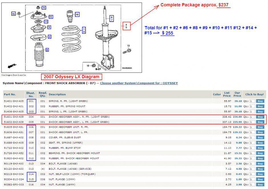 Honda Odyssey Struts Diagram Wiring Diagrams Best