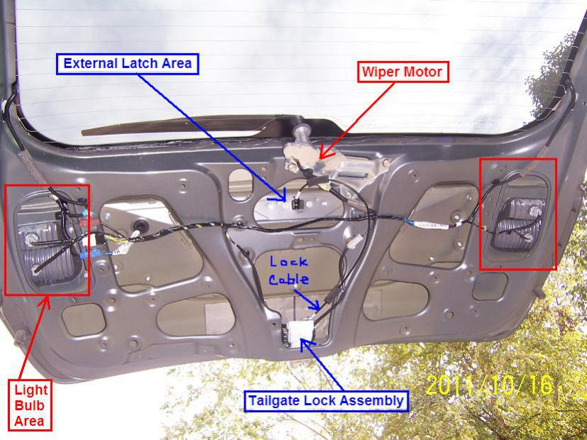 Cant open liftgate – Honda Odyssey Hatch Door Wiring