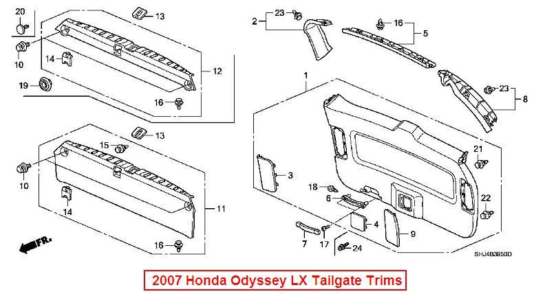 2014 honda odyssey liftgate parts diagram  honda  auto