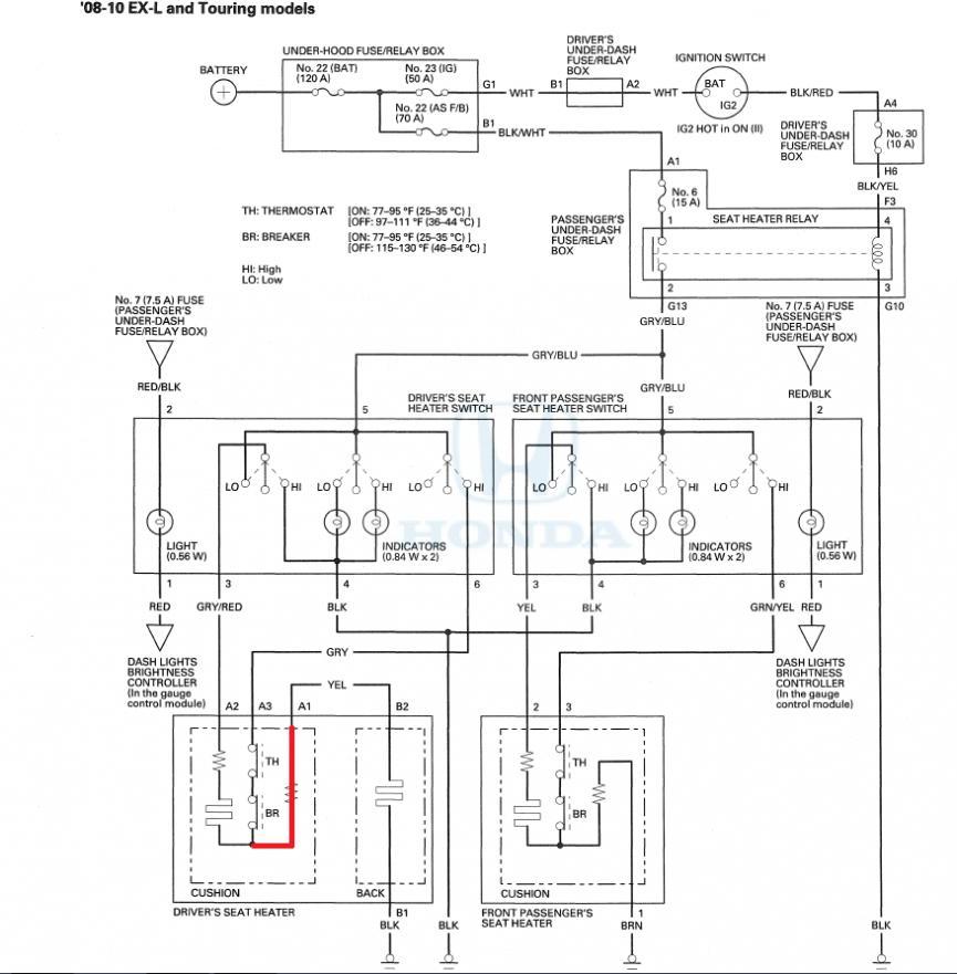 seat heater wiring diagram discrepancy
