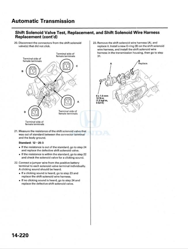 Transmission Solenoid D Issuerhodyclub: Honda Odyssey Transmission Control Solenoid Location At Gmaili.net
