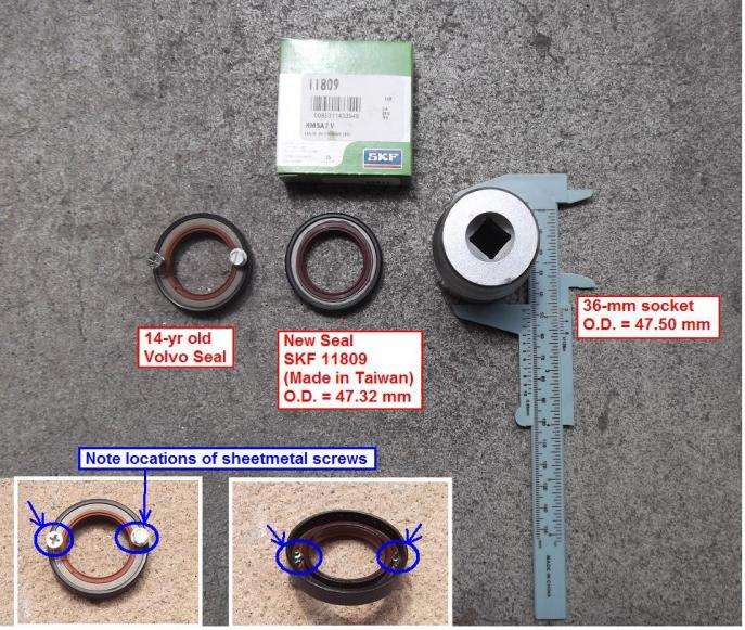 2005 Odyssey Front Crankshaft Oil Seal Leak