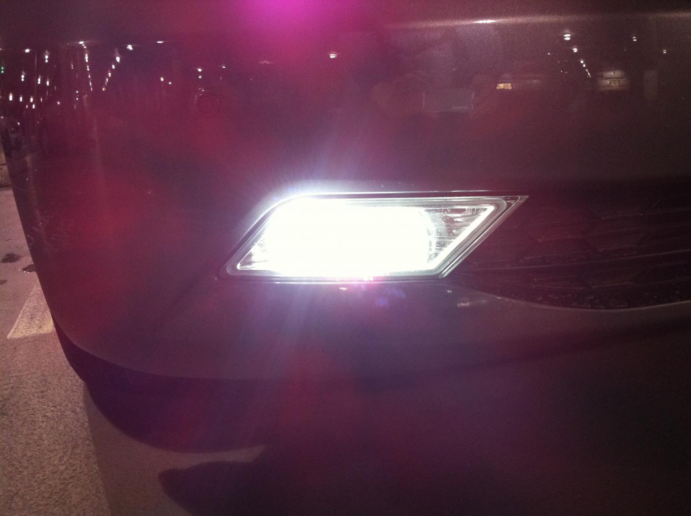 White 5K Fog Light Installed | Honda Odyssey Forum