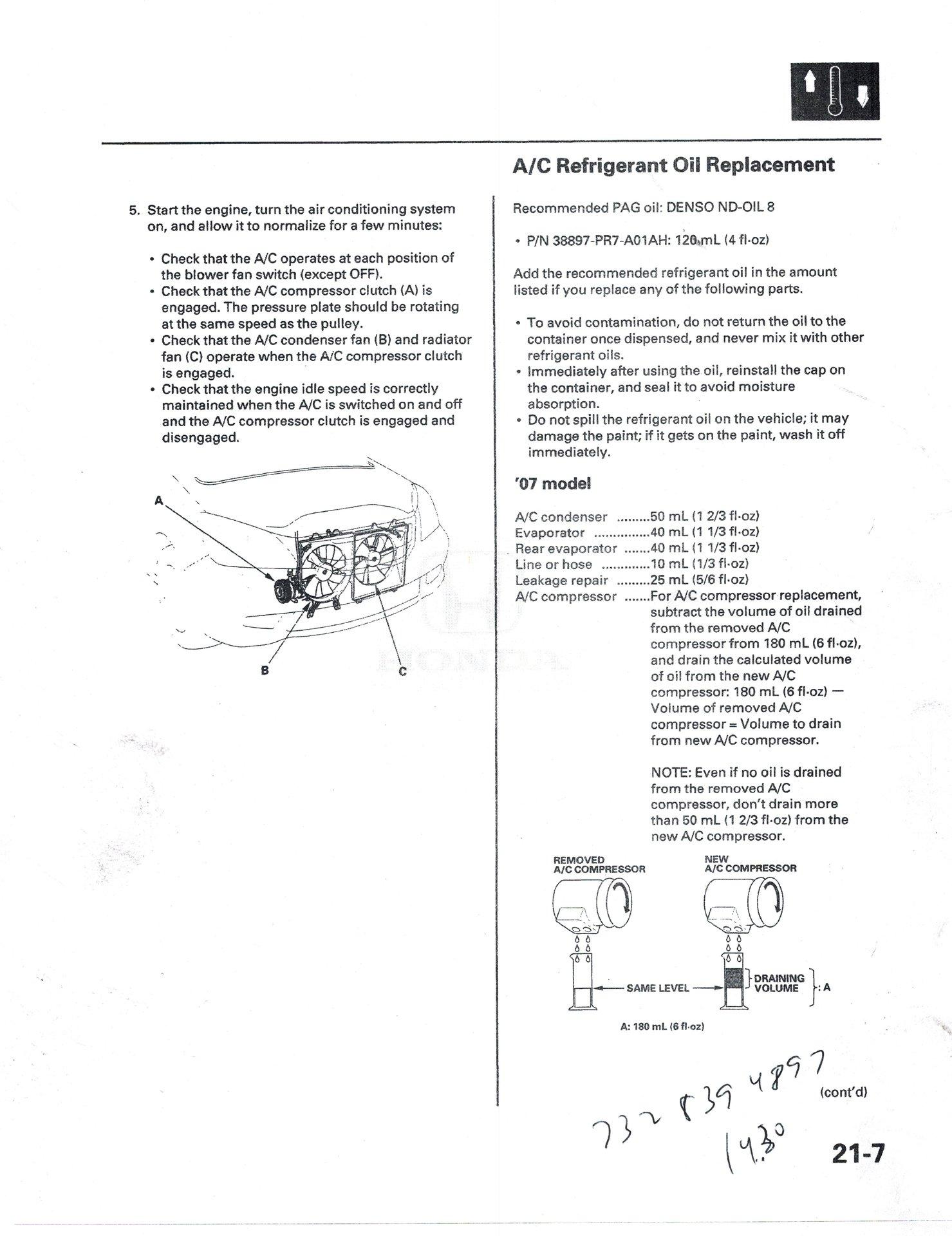 Adding PAG Oil | Honda Odyssey Forum
