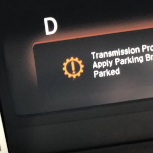 Auto Stop failure - Transmission Problem error message
