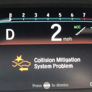 Auto Stop failure - Collision Mitigation System Problem